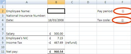 Basic payslip layout